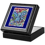 Colorful Cancer Angel Keepsake Box