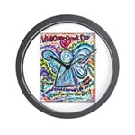 Colorful Cancer Angel Wall Clock