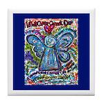 Colorful Cancer Angel Tile Coaster