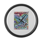 Colorful Cancer Angel Large Wall Clock