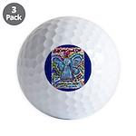 Colorful Cancer Angel Golf Balls