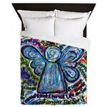 Colorful Cancer Angel Queen Duvet