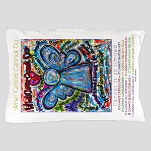 Colorful Cancer Angel Pillow Case