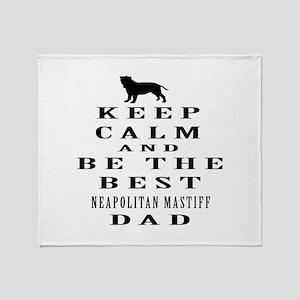 Neapolitan Mastiff Dad Designs Throw Blanket