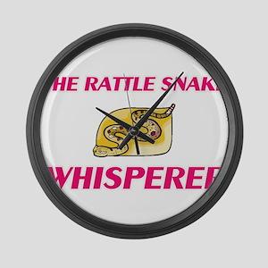 The Rattle Snake Whisperer Large Wall Clock
