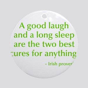 good-laugh-opt-green Ornament (Round)