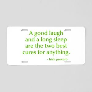 good-laugh-opt-green Aluminum License Plate