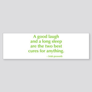 good-laugh-opt-green Bumper Sticker