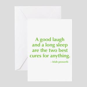good-laugh-opt-green Greeting Card