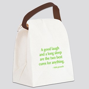 good-laugh-opt-green Canvas Lunch Bag