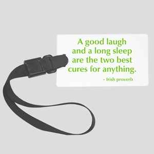 good-laugh-opt-green Luggage Tag