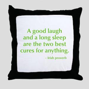 good-laugh-opt-green Throw Pillow