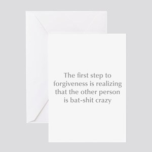 Forgiveness greeting cards cafepress first step to forgiveness opt gray greeting card m4hsunfo