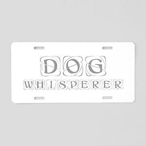 dog-whisperer-kon-gray Aluminum License Plate
