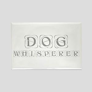 dog-whisperer-kon-gray Rectangle Magnet