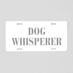 dog-whisperer-bod-gray Aluminum License Plate