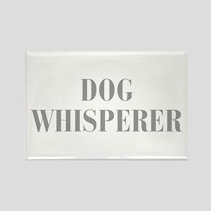 dog-whisperer-bod-gray Rectangle Magnet