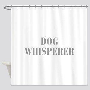 dog-whisperer-bod-gray Shower Curtain