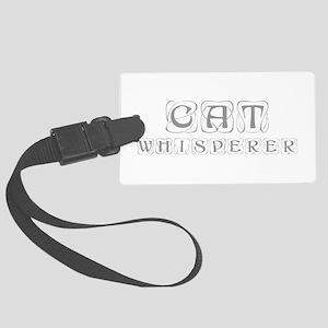 cat-whisperer-kon-gray Luggage Tag