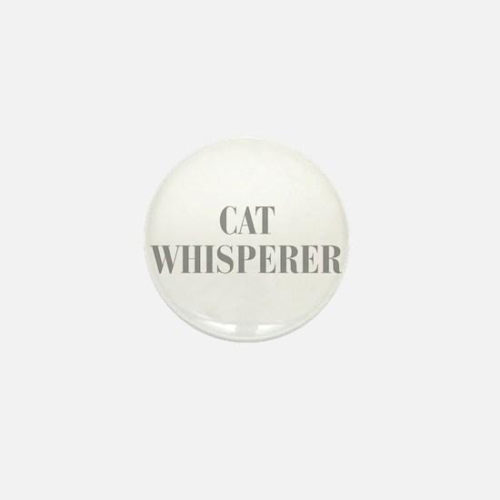 cat-whisperer-bod-gray Mini Button