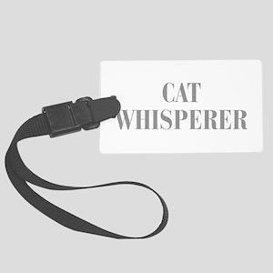 cat-whisperer-bod-gray Luggage Tag