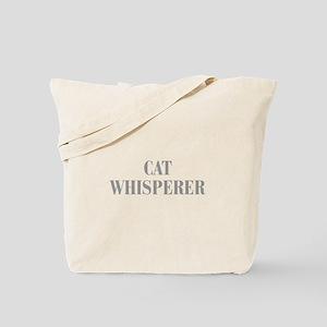 cat-whisperer-bod-gray Tote Bag