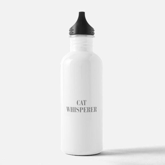 cat-whisperer-bod-gray Water Bottle