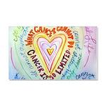 Rainbow Heart Cancer Car Magnet 20 x 12