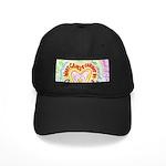 Rainbow Heart Cancer Black Cap