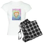 Rainbow Heart Cancer Women's Light Pajamas