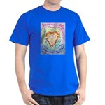 Rainbow Heart Cancer Dark T-Shirt