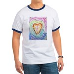 Rainbow Heart Cancer Ringer T