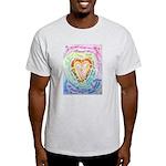 Rainbow Heart Cancer Light T-Shirt