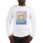Rainbow Heart Cancer Long Sleeve T-Shirt