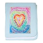 Rainbow Heart Cancer baby blanket
