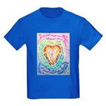 Rainbow Heart Cancer Kids Dark T-Shirt