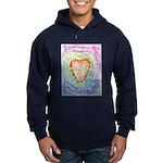 Rainbow Heart Cancer Hoodie (dark)