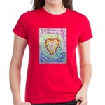 Rainbow Heart Cancer Women's Dark T-Shirt