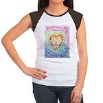 Rainbow Heart Cancer Women's Cap Sleeve T-Shirt