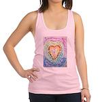 Rainbow Heart Cancer Racerback Tank Top