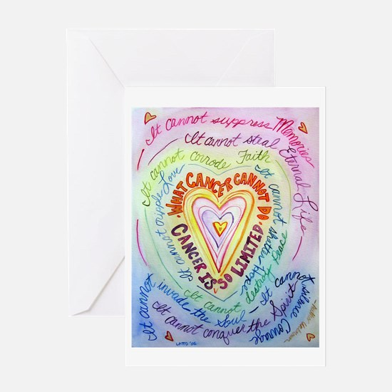 Rainbow Heart Cancer Greeting Card