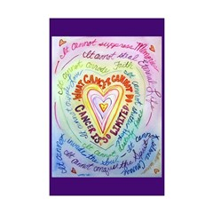 Rainbow Heart Cancer Posters