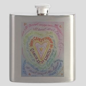 Rainbow Heart Cancer Flask