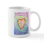 Rainbow Heart Cancer Mug