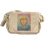 Rainbow Heart Cancer Messenger Bag