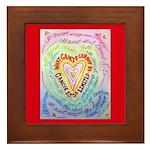 Rainbow Heart Cancer Framed Tile
