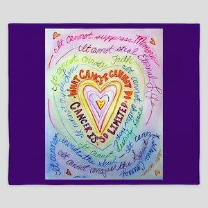 Rainbow Heart Cancer King Duvet