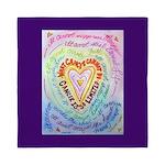 Rainbow Heart Cancer Queen Duvet