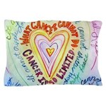 Rainbow Heart Cancer Pillow Case