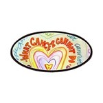 Rainbow Heart Cancer Patches